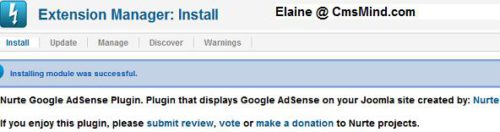 Joomla 17 install nurte google adsense How to Add Adsense to Joomla 1.7 Articles with Nurte Google Adsense