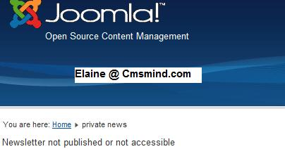 Joomla 1.7 JINC Component - Accessing Private Newsletter