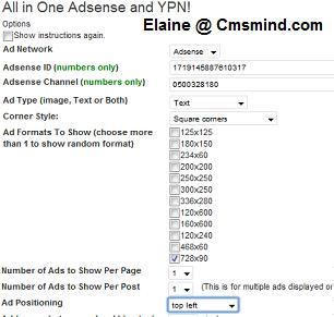 Configure All in One Adsense and YPN Pro Plugin