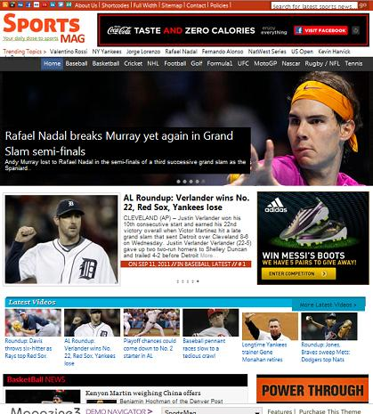 espn sports news magazine template sportsmag Create an ESPN Sports News Website with Wordpress SportsMag