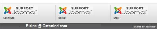 Joomla 1.7 - Banner Modules Contribute! Books! Shop!