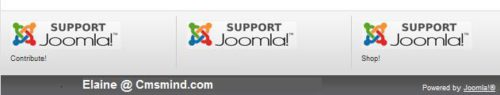 "Joomla 1.7 - Remove words ""Contribute!"", ""Books!"", ""Shop!"""
