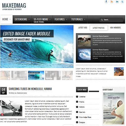 joomla 17 magazine news template maxed mag Create an Elegant Magazine Website with Joomla Maxed Mag