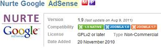 nurte google adsense joomla 17 How to Add Adsense to Joomla 1.7 Articles with Nurte Google Adsense