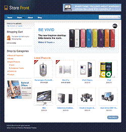 how to build a shopping website with wordpress store front