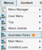 joomla 17 cmsmind new home menu location 3 Joomla 1.7 Tutorial   How to Change your Default Menu Item