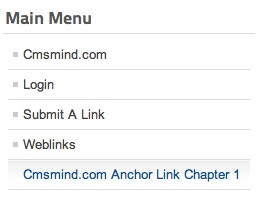joomla 17 menu link article anchor frontend Joomla Tutorial   How to Link a Menu Item to an Article Anchor