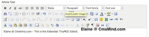 cmsmind elaine tinymce editor extended 3 Joomla 1.7.3 Tutorial   How to Enable the Extended Tiny MCE Editor
