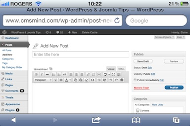 cmsmind wordpress responsive layout 3 A Review of Wordpress 3.3 Changes so far...