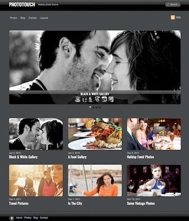 Wordpress Photography Theme - Phototouch