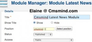 cmsmind joomla 17 show modules on frontpage 3 300x137 Joomla 1.7 Tutorial   How to Show Modules on Frontpage instead of Featured Articles