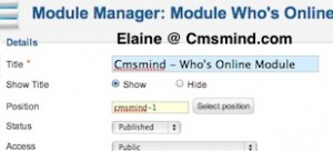 cmsmind joomla 17 show modules on frontpage 4 300x136 Joomla 1.7 Tutorial   How to Show Modules on Frontpage instead of Featured Articles