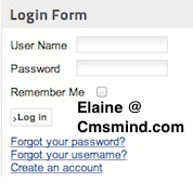 cmsmind joomla login form register 5 Joomla 1.7 Help   How to Show Welcome (name) With Logout Button