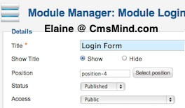 cmsmind joomla login module new 4 Joomla 1.7 Help   How to Show Welcome (name) With Logout Button