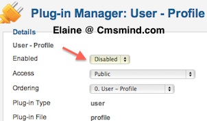 Plugin Manager Disable User Profile