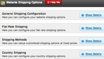 ShopperPress Shipping Options