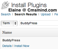 BuddyPress - Install Now