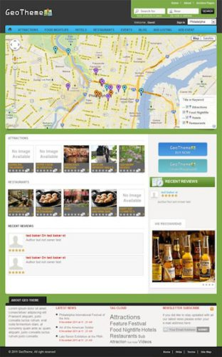 geo city search directory clone script wordpress theme geo theme Cost to make a website like Yelp or CitySearch with GeoTheme