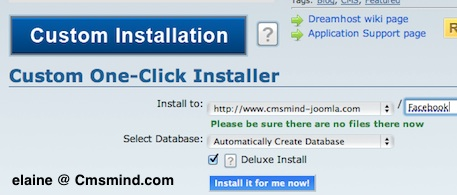 Dreamhost One click installer for WordPress