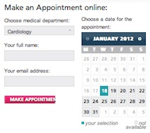 Medica Online Appointment Booking Tool