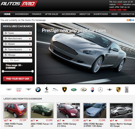 cmsmind car dealership wordpress theme autos pro 1 Cost to Create a Website like AutoTrader with Auto Pros Wordpress