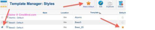 Joomla 2.5 - Set Beez_20 as Default Site Template