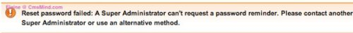 Joomla 2.5 Cannot Retrieve Super Admin Password