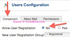 cmsmind elaine joomla25 hide create account 4 Joomla 2.5 Tutorial   How to Hide User Registration Form