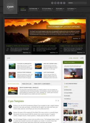 Cyan Joomla 2.5 Template