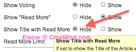 cmsmind joomla 25 remove article title from read more link 3 Joomla 2.5   How to Remove the Article Title from Read More Link
