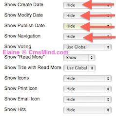 Joomla 2.5 - Hide all Article Details in Menu Item