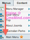 Joomla 2.5 - The star is beside the Menu Manager that contains the default Menu Item