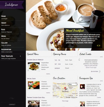 Indulgence WordPress Restaurant Theme