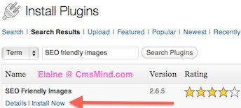 Wordpress Plugin - Install SEO friendly Images