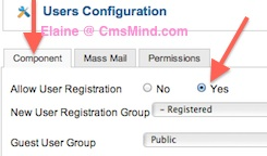 cmsmind joomla 2 5 allow user registration 1 Joomla 2.5   How to Allow User Registration On Your Website