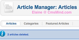 cmsmind joomla 2 5 article trash manager 4 Joomla 2.5 Tutorial   Where is the Trash Manager?