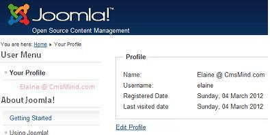 Joomla 2.5 - User Profile does not show Basic Settings