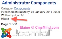 cmsmind joomla 2 5 reset article hit count 1 Joomla 2.5   How to Reset Article Hits Counter