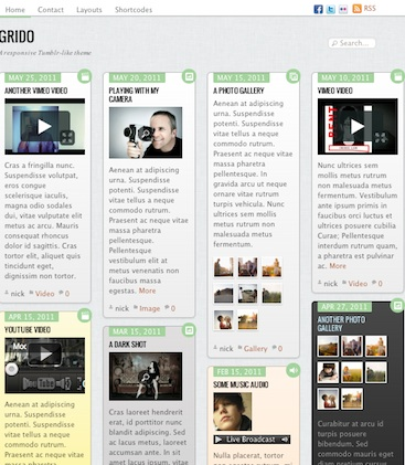cmsmind unique simple minimal wordpress theme 2012 grido 10 Unique, Simple and Minimalistic Wordpress Blog Themes for 2012