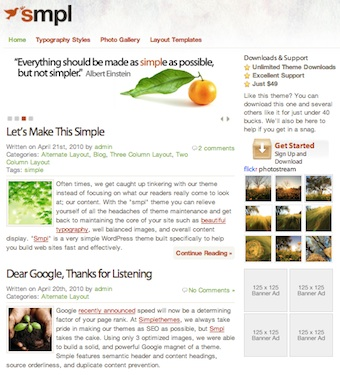 cmsmind unique simple minimal wordpress theme 2012 simple simpl 10 Unique, Simple and Minimalistic Wordpress Blog Themes for 2012