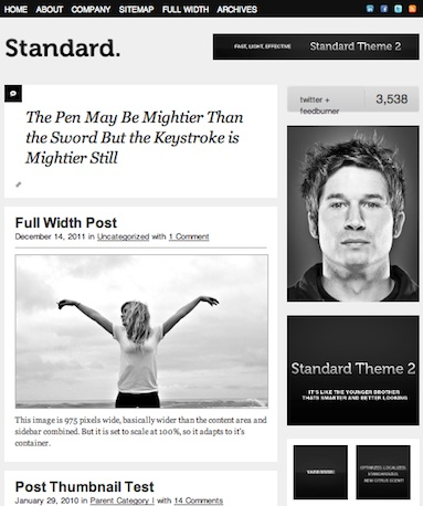 cmsmind unique simple minimal wordpress theme 2012 standard 1 10 Unique, Simple and Minimalistic Wordpress Blog Themes for 2012
