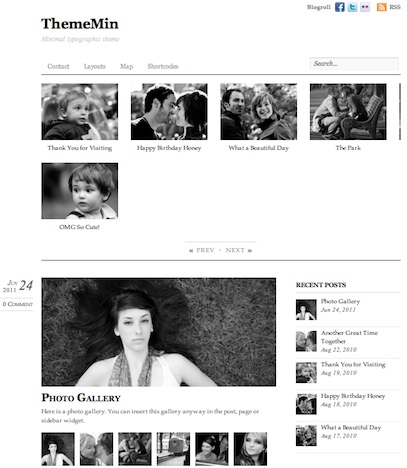 cmsmind unique simple minimal wordpress theme 2012 thememin 10 Unique, Simple and Minimalistic Wordpress Blog Themes for 2012