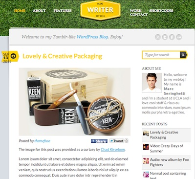 cmsmind unique simple minimal wordpress theme 2012 writer 1 10 Unique, Simple and Minimalistic Wordpress Blog Themes for 2012