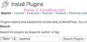 Wordpress Plugin - search for CAPTCHA