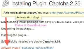 Wordpress Plugin - Activate CAPTCHA