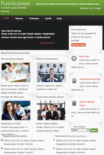 joomla 2 5 template pure business joomla bamboo Cost to Create Business Website with Joomla 2.5 Template   Pure Business