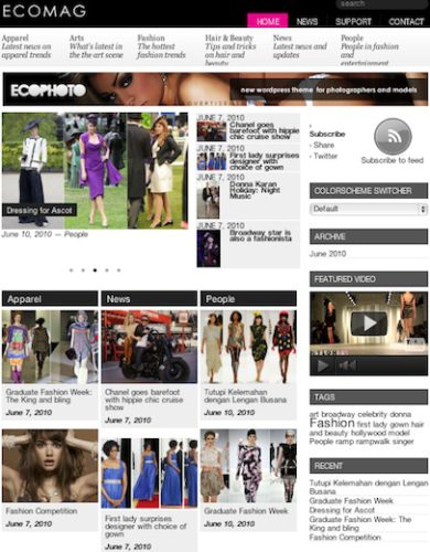 magazine site cost wordpress theme ecomag Cost to Create a Magazine Website with Wordpress   EcoMag