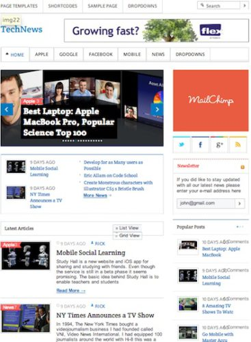 wordpress theme news magazine site like techcrunch mashable Cost to Create a Tech News Blog like TechCrunch with TechNews