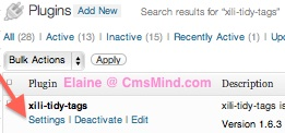cmsmind elaine wordpress plugin tags xili tidy tags 4 Free Wordpress Plugin   Help Manage Wordpress Tags   Xili Tidy Tags