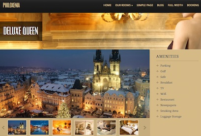 cmsmind hotel clone website wordpress Philoxenia rooms Create a Luxury Hotel Website with Wordpress   Philoxenia
